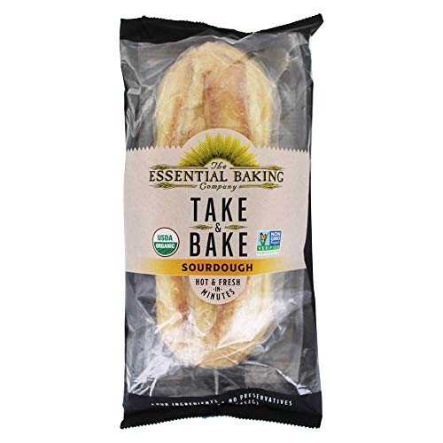 Essential Baking Company, Bread Take And Bake Sourdough Organic, 16 Ounce