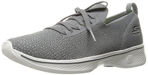 Skechers Go Walk 4-Reward, Formateurs Femme Gris (Charcoal)