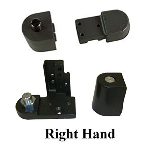 Kawneer Style TOP & BOTTOM Pivot Hinge Set for Commercial Adams Rite Type Storefront Door, Choose Handing & Finish (Right Hand in Dark Bronze) (Bronze Dark Finish)