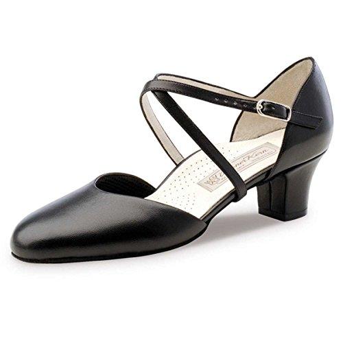 Nucléaire Werner - Femmes Chaussures De Danse Debby 4,5 Cuir Noir