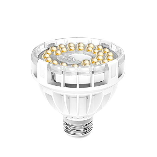 SANSI Daylight LED Grow Light Bulb, 10W Full Spectrum Sunlight LED Grow Lights for Indoor Plants Vegetables and Seedlings, LED Plant White Lights for Indoor Garden Greenhouses UV IR, E26 AC120V