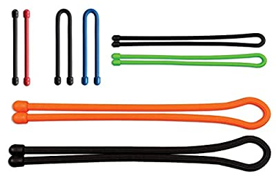 The Most Amazing Gear Ties (5-Pack Assorted Super Duty Bundle, 2 x 18 Inch, 2 x 24 Inch, 1 x 32 Inch-Extra Thick Diameter). Use For Organizing, Bundling, Securing Your Medium-To-Large Appliances - Cables, Cords, Dog Leashes, Ropes, Hoses, Yoga Mat's, Etc.