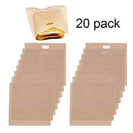 Chicken Non-Stick Reusable Toaster Bags Nuggets 3 Pack FDA Approved,Heat Resistant Gluten Free Perfect for Grilled Cheese Sandwiches Panini and Garlic Toasts