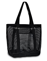 Everest Mesh Shopping Tote, Black, One Size