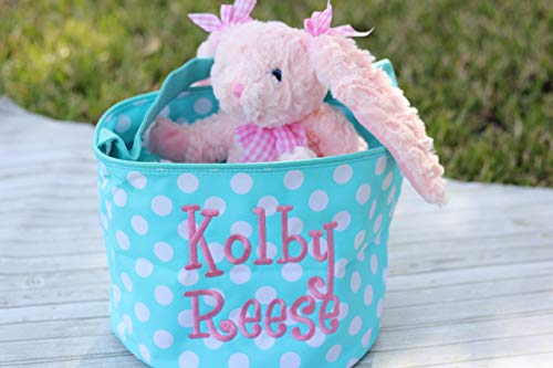 Monogrammed Easter Bucket - Personalized Easter Basket - Easter Basket - Easter Bag - Custom Easter Basket