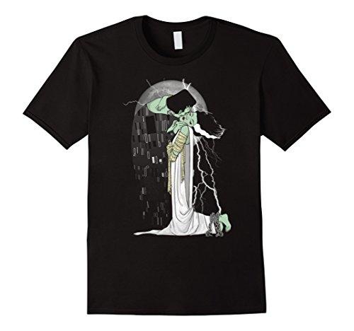 [Men's Love Beyond Death Halloween Costumes T-shirts Medium Black] (Frankensteins Bride Costume)
