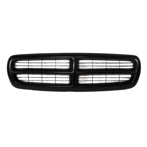2004 Dodge Dakota Grille - CarPartsDepot, Front Pickup Grille Grill Replacement Upgrade New Cross Bar Raw Black, 400-17118 CH1200200 5EH12DX8