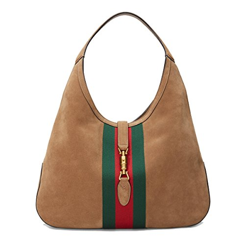Gucci-Womens-362968-Soft-Suede-Red-Green-Web-Stripe-Jackie-Hobo-Handbag