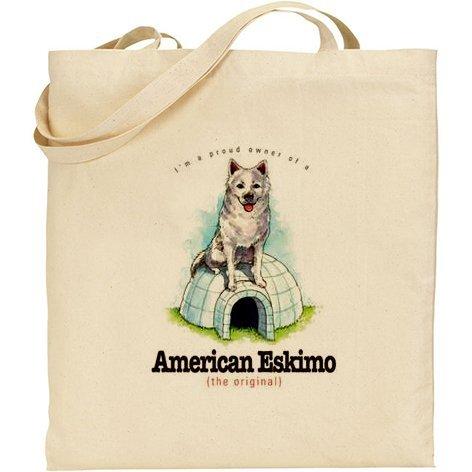 AB–umoristico American Eskimo Dog cotone Borsa