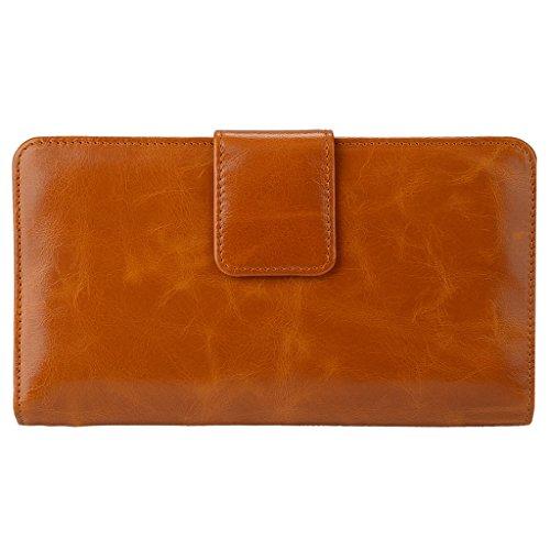 YALUXE Genuine Leather Organizer Passport