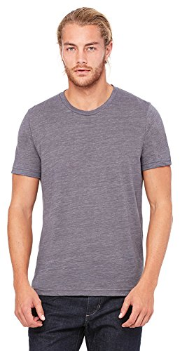 Bella + Canvas Unisex Poly-Cotton Short-Sleeve T-Shirt, Medium, ASPHALT SLUB