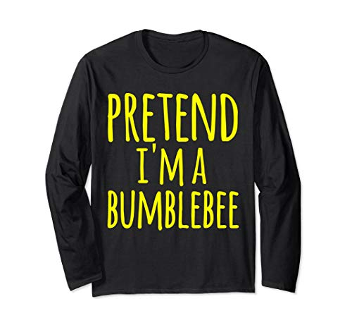 Funny Lazy Halloween Shirt PRETEND I'M A BUMBLEBEE