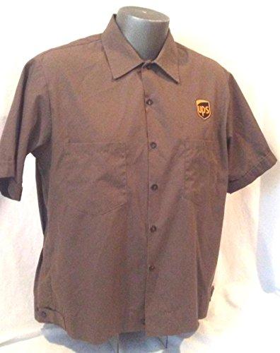 Ups Uniforms (UPS Uniform Shirt Size Large, Brown Delivery Driver Shirt, Short Sleeve UPS Shirt, UPS Costume)