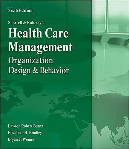 Shortell And Kaluzny S Healthcare Management Organization Design And Behavior 9781435488182 Medicine Health Science Books Amazon Com