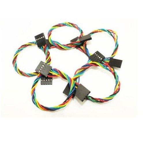 Phantom YoYo High Quality 5 Pin Dupont Cable Female to Female 200mm Length (20pcs)