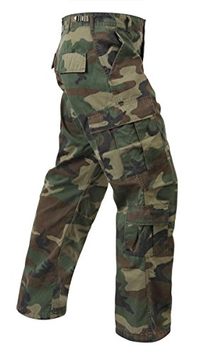 Woodland Camo Vintage Paratrooper Fatigues, Medium