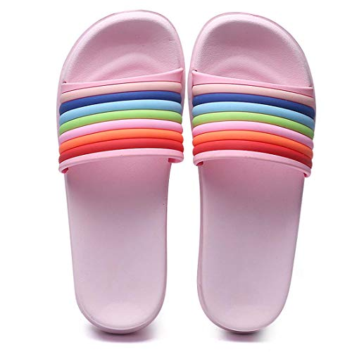 Footwear Breathable Puremee Lightweight Water Slippers Pink Womens Clog On Beach Shoes,Slip Shoes Garden 455wX6