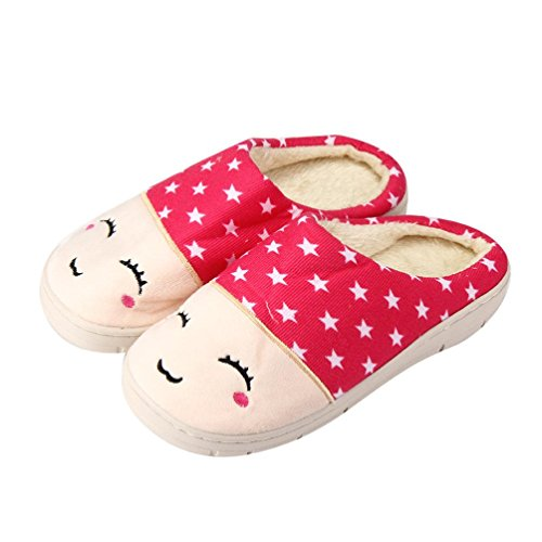8790bc8e730c4 60%OFF Hunzed Women Home Soft Slippers Female Cotton Shoes Couple ...