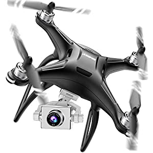 SIMREX X11 Upgraded GPS Drone with 1080P HD Camera 2-Axis Self stabilizing Gimbal 5G WiFi FPV Video RC Quadcopter Auto…
