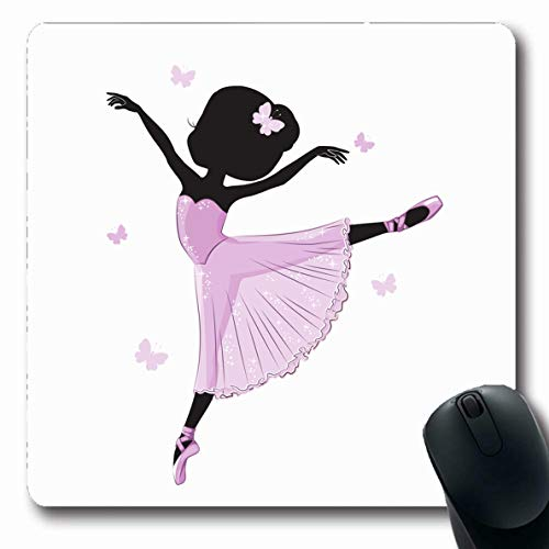LifeCO Mouse Pad Classic Dancer Cute Little Ballerina Pink Dress for Ballet Costume Dancing Fairy Girl Design Funny Oblong Shape 7.9 x 9.5 Inches Mousepad for Notebook Computer Mat Non-Slip Rubber]()