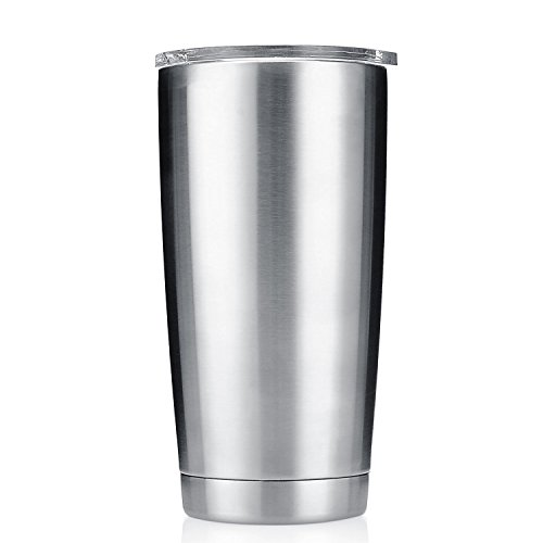 20 oz Stainless Steel Double Wall Vacuum Insulated Tumbler with Splash Proof Lid and No Logo... Perfect For Customizing!!!