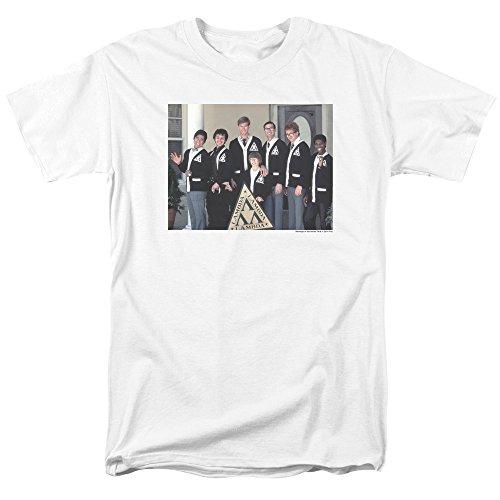 - Trevco Men's Revenge of The Nerds Short Sleeve T-Shirt, White, Small