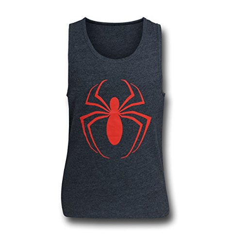 spider-man+tank+tops Products : Ultimate Spider-Man Logo Heather Men's Tank Top