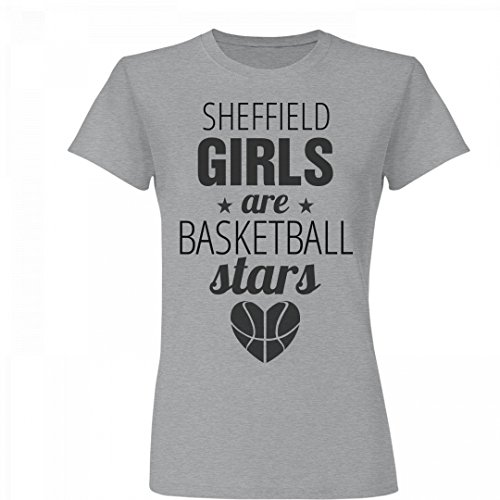 fan products of Sheffield Girls Are Basketball Stars: Junior Fit Basic Fine Jersey T-Shirt
