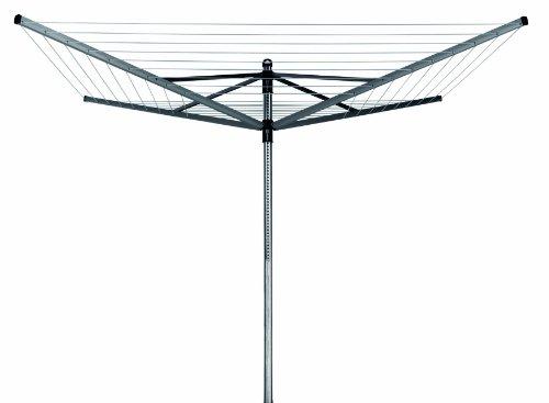 Brabantia Wäschespinne Lift-O-Matic 50 M - 45 mm Rohr mit Metall-Bodenanker und Schutzhülle