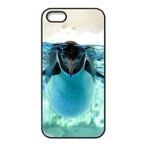 a cute little peinguin swiming Case For Htc One M9 Cover Case - Black