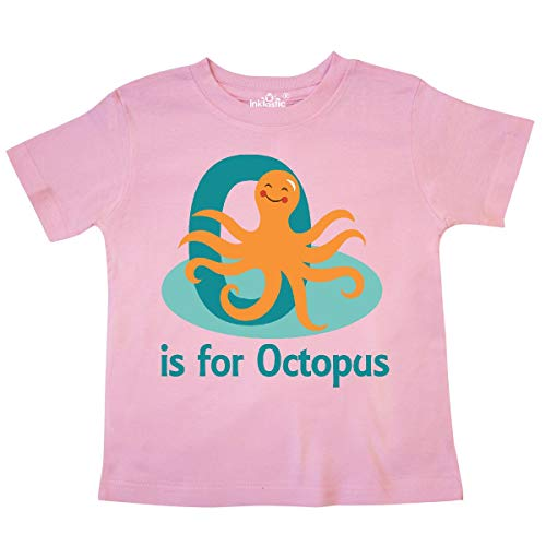 inktastic - O is for Octopus Monogram Toddler T-Shirt 5/6 Pink 23912
