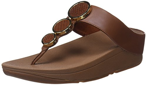 Fitflop Donna Halo Toe Sandalo Infradito Marrone Scuro