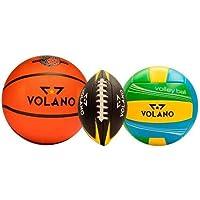 Volano Paquete Balones Basquetbol, Voleibol y Futbol Americano