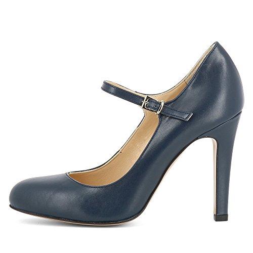 Escarpins Bleu Lisse Cristina Foncé Shoes Evita Cuir Femme FwZgTz