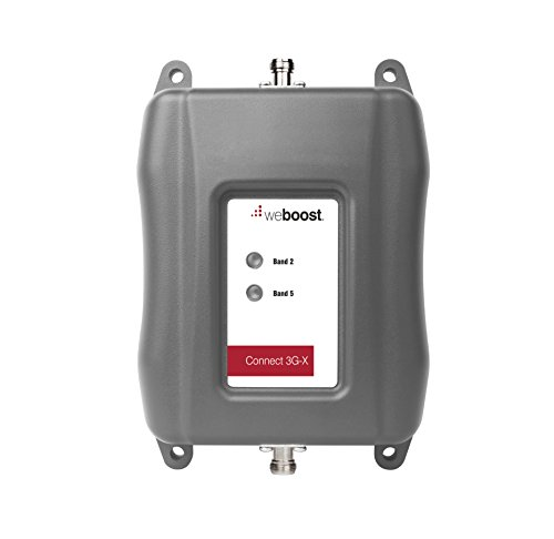 weBoost Connect 3G-X Cell Phone Signal Booster for Home and Office – Enhance Your Signal up to 32x. Can Cover up to 7500 sq ft or Large Home. For Multiple Devices and Users.