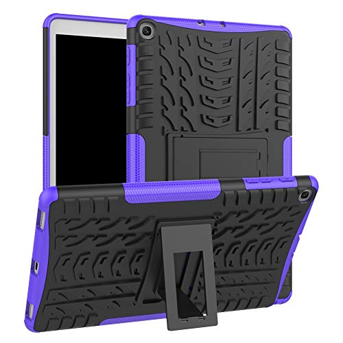 Case for Samsung Galaxy Tab A 10.1 Inch 2019 SM-T515/T510 DWaybox Rugged Heavy Duty Armor Hard Back Cover Case with Kickstand (Purple) (Best Cheap Pc Cases 2019)