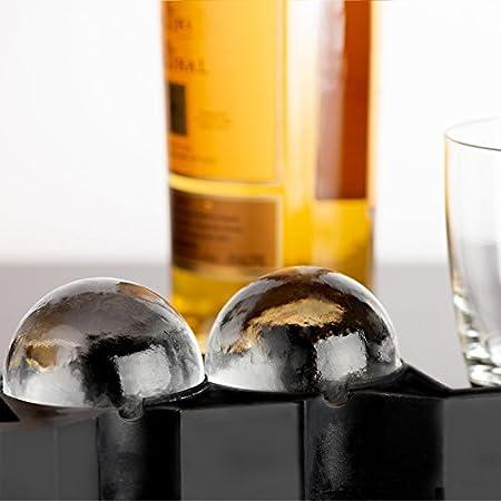 Fabricante de bolas de hielo cristalinas, molde de 2 cavidades, bolas de hielo gigantes, mejores productos de cocina