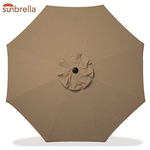 Garden Parasol Patio Umbrella Sun Shade Outdoor Canopy Only for 9 FT 8 Ribs (Sunbrella, Sesame)