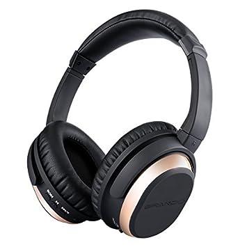 Grando Activo cancelación de Ruido Auriculares inalámbrico Bluetooth Overhead Auriculares estéreo con micrófono para Fire TV iPhone 7 Plus iPad: Amazon.es: ...