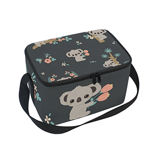 FORMRS Insulated Lunch Box Cute Koala Lunch Bag for Men Women, Portable Tote Bag Cooler Bag for Work/School/Picnic