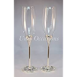 Unik Occasions Wedding Toasting Flutes/Champagne Glasses