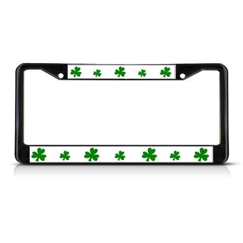 license plate frame shamrock - 5