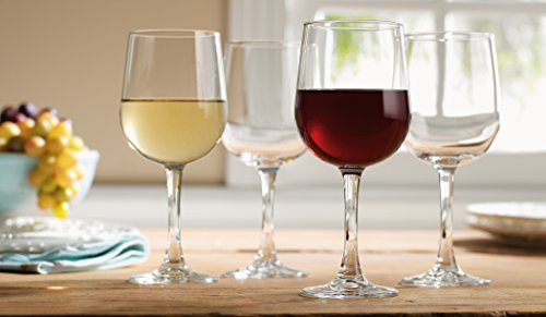 Elegant Home Set of Four (4) Clear 12-ounce Classic Wine Glass,