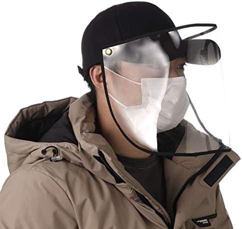野球帽 大人野球帽 日除け帽子 UVカット 帽子 ハット フェイスカバー 透明タイプ 釣り 防風 防塵 男女兼用
