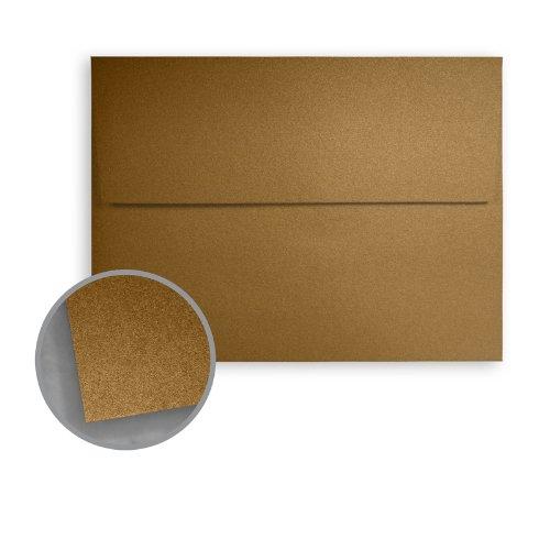 Stardream Antique Gold Envelopes - A9 (5 3/4 x 8 3/4) 81 lb Text Metallic C/2S 250 per ()