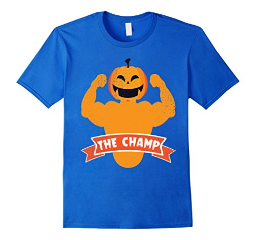 Mens Halloween Muscle Weight Lifting Workout Party Time T Shirt XL Royal Blue