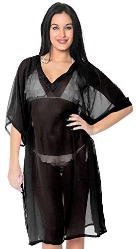 La Leela pura de la gasa de la playa del traje de baño normal caftan mujeres superiores encubrir caftán túnica de la blusa Malta quemada