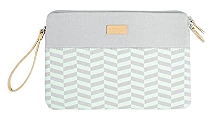874d39ef470 Image Unavailable. Image not available for. Color  Greene + Gray 13-Inch  Laptop Case (Green Chevron) ...