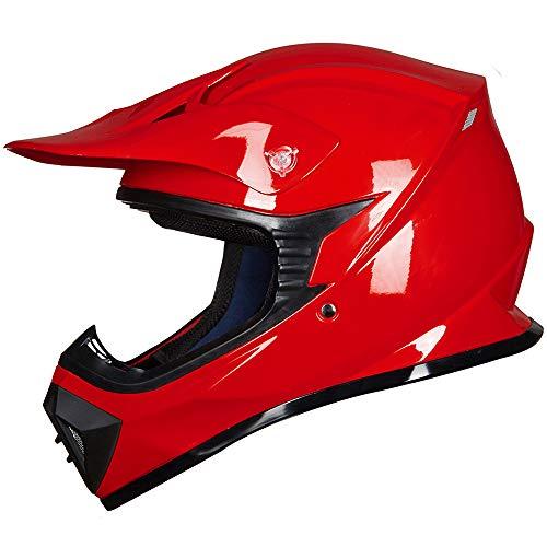 ILM Youth Kids ATV Motocross Dirt Bike Motorcycle BMX MX Downhill Off-Road MTB Mountain Bike Helmet DOT Approved (RED, - Bike Youth Dirt Red