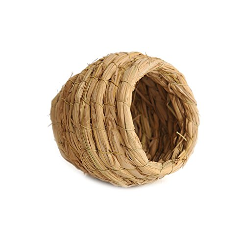 Handmade Natural Grass Breeding Nest Hut for Chinchilla Birds Hamsters and other Small Aniamls